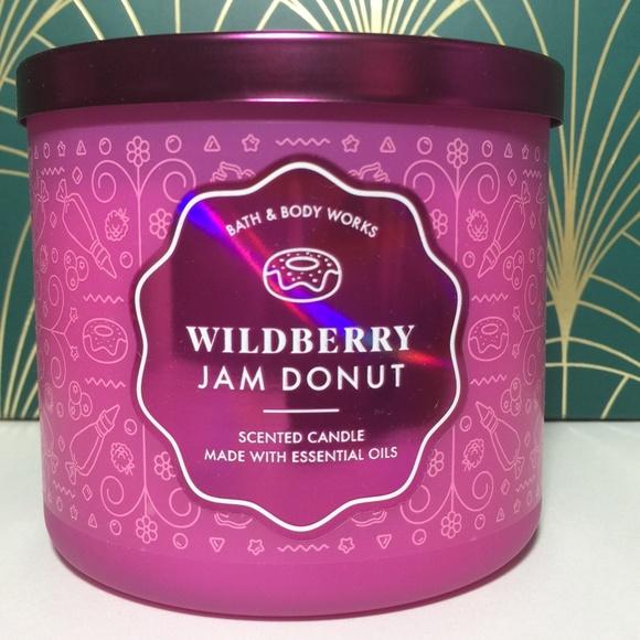 WILDBERRY JAM DONUT 3 Wick Candle